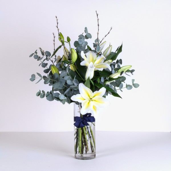 Classic White lily vase
