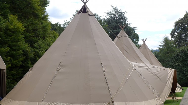 The tipis for the reception.