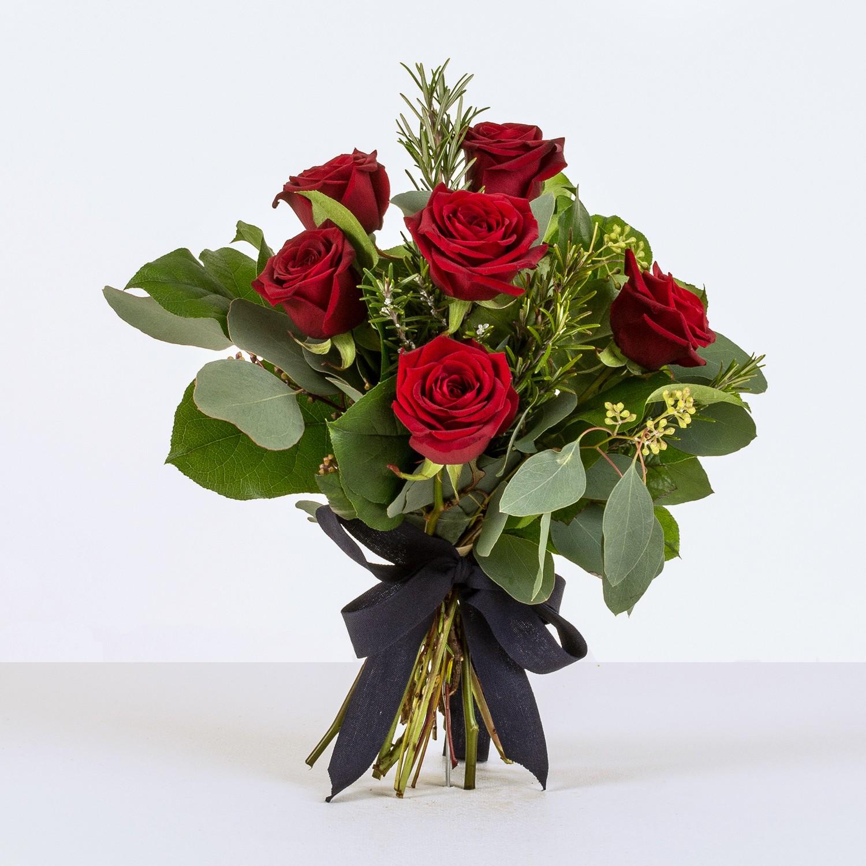 Half Dozen red rose ht