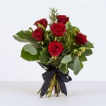 Half Dozen red rose ht