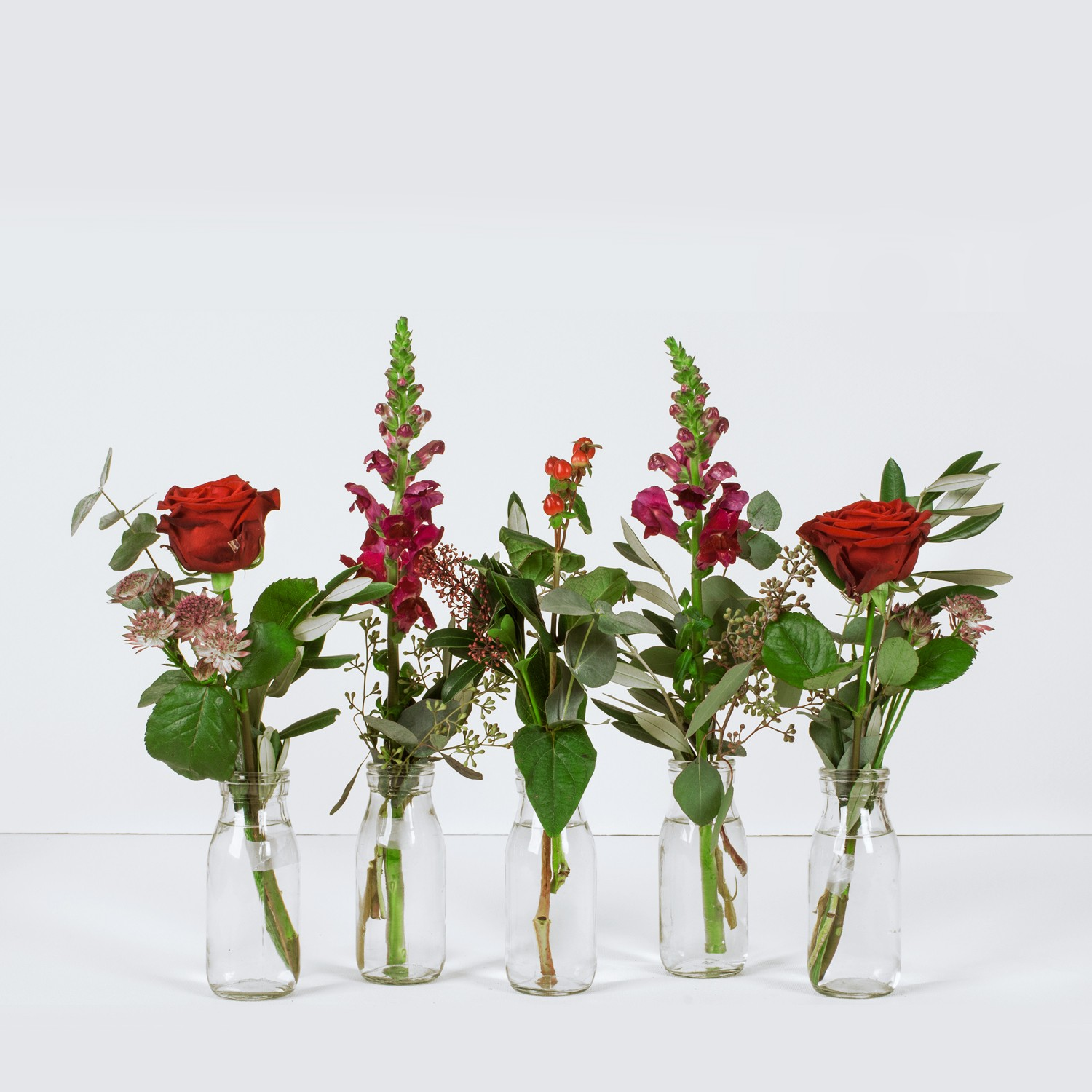 Red and Pink Vase Selection
