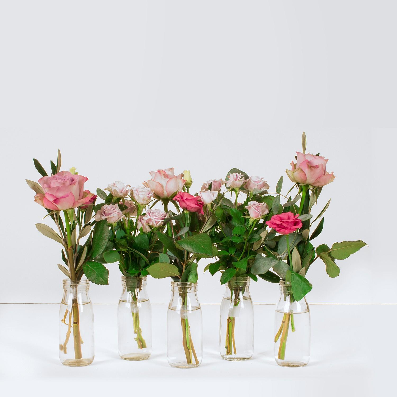Vintage Pink Vase Selection